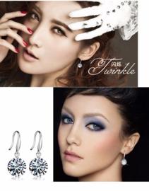 Verzilverde stud Earring Bling van de luxe 8mm