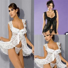 Sexy Vrouwen Kant Nachtkleding Babydoll Nachtjapon