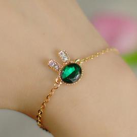 Zee Groen Konijn Mode-sieraden Imitatie Diamond