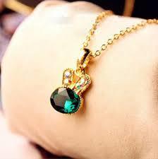 Emerald hanger Diamanten ketting