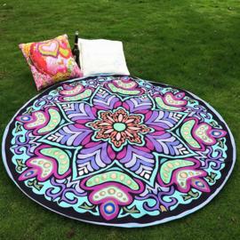 Rond strandkleed/yoga maat/strand Chiffon/tafel kleed bloem 150cm