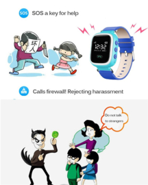 Q60 kids gps smart watch horloge