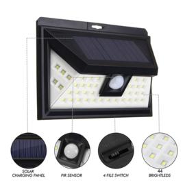 44 LED Zonne-energie Beveiliging Wandlamp