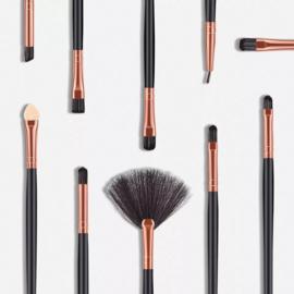 10 stks Hout Make-Up Borstel Oogschaduw