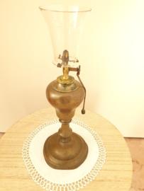 Koper Olie lamp kegelvormig glas