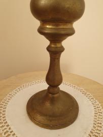 Koper Olie lamp rond glas