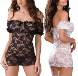 Sexy strakke lingerie jurk
