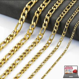Figaro Schakel Gold Plated Kettingen