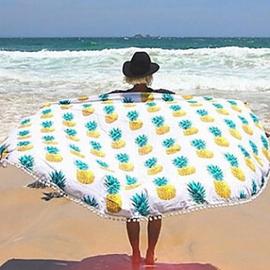 Rond strandkleed/yoga maat/strand Chiffon/tafel kleed Ananas patroon 150cm