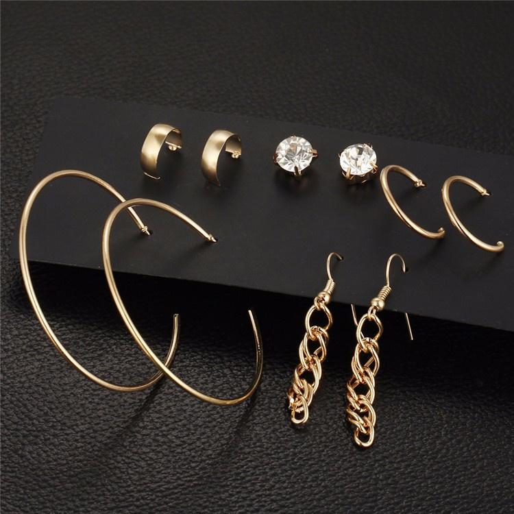 5 paar Alloy mooi oorbellen