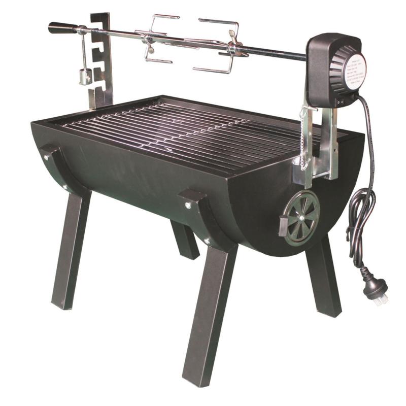 Spit Roaster Houtskool BBQ met motor tot 15Kgs