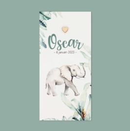 Geboortekaartje Oscar