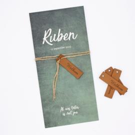 Geboortekaartje Ruben