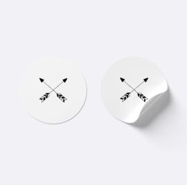 Sluitsticker pijlen | Wit met zwart