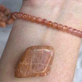 Maansteen armband met edelsteen