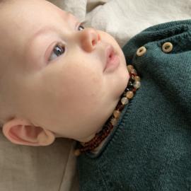 Barnsteen ketting; quarts en aventurijn (baby/peuter)