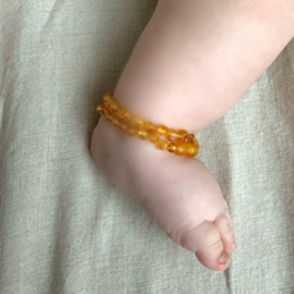 Barnsteen ketting; honinggeel (baby/peuter)