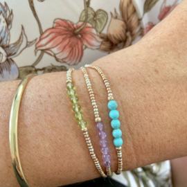 Geboortesteen armbandje Maart - Aquamarijn