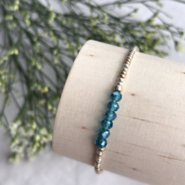 Geboortesesteen armbandje December - Topaas blauw