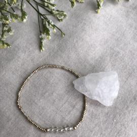 Geboortesteen armbandje April - Kristal