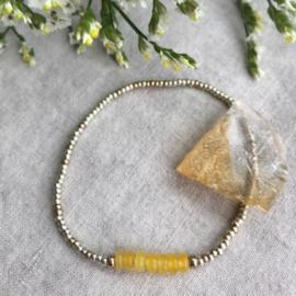 Geboortesteen armbandje November -Topaas geel