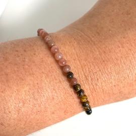 Tijgeroog maansteen armband