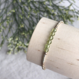 Geboortesteen armbandje Augustus - Peridot