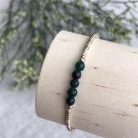 Geboortesteen armbandje Mei - Smaragd