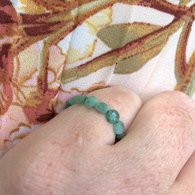Emerald groene ring
