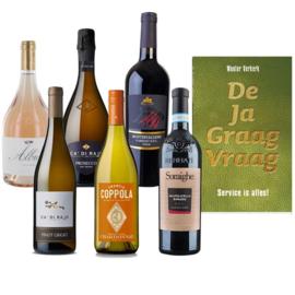 Boonstra Wijnen: 6 flessen wijn en De Ja Graag Vraag
