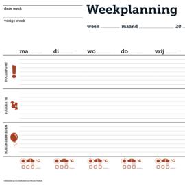 Weekplanning (blok) 2x