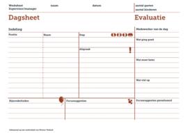 Dagplanning met evaluatie (blok) 2x
