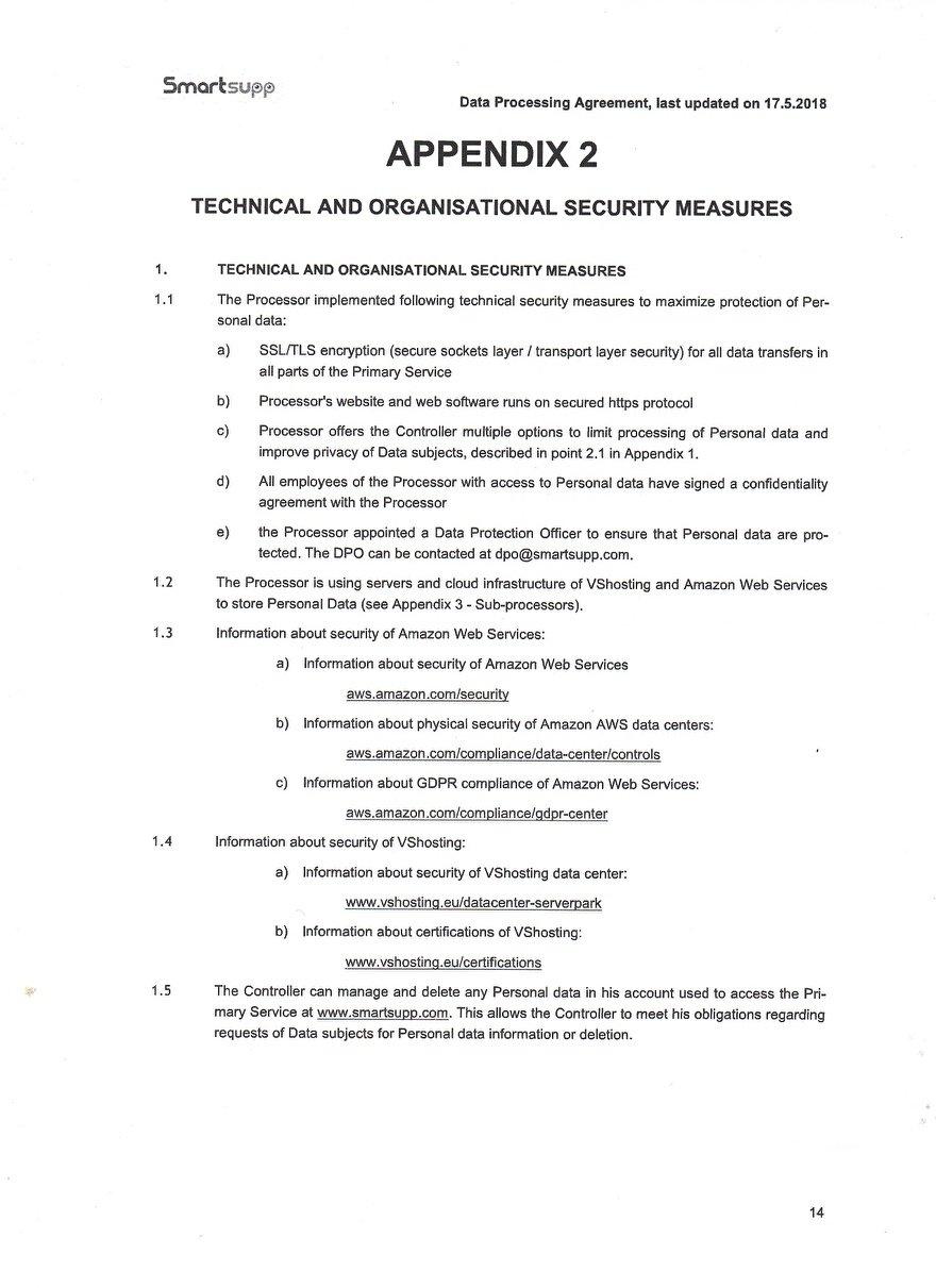 Verwerkinsovereenkosmst van Smartsupp_14