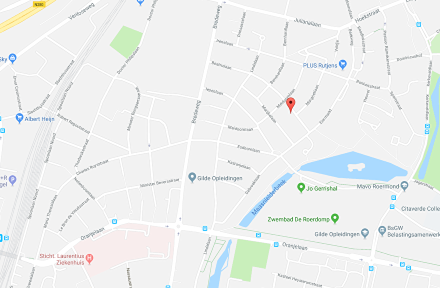 google maps Beatrixlaan 13 Roermond-Maasniel