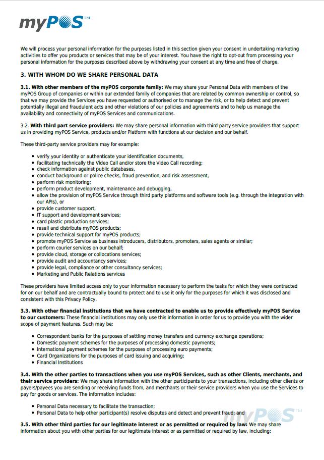 mypos verwerkersovereenkomst