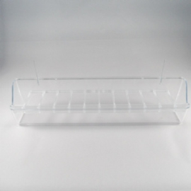 Hangbak 30cm transparant