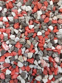 Aquarium grind split mix rood ± 1kg