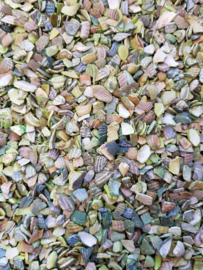 Aquarium gebroken schelpjes groen ± 750gr
