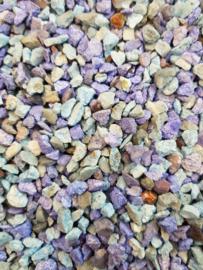 Aquarium grind split gekleurd blauw ± 1kg