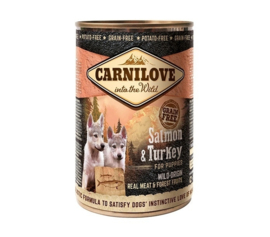 Carnilove Blik Salmon & turkey puppy 400gr