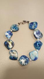 mooie zomerse armband kleur  blauw
