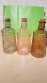 flessen in de herfstkleuren 3 kleuren