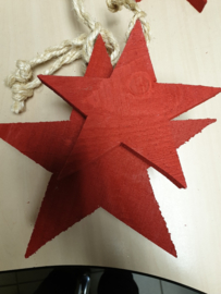 rode houten ster groot