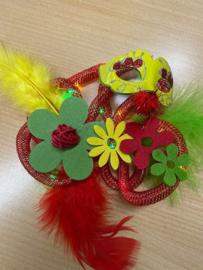 carnavals corsage met verlichting