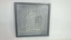 schilderij beton Justitia
