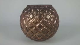 vaasje/ theelicht brons effect 15 cm
