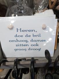 houten tekstbordje
