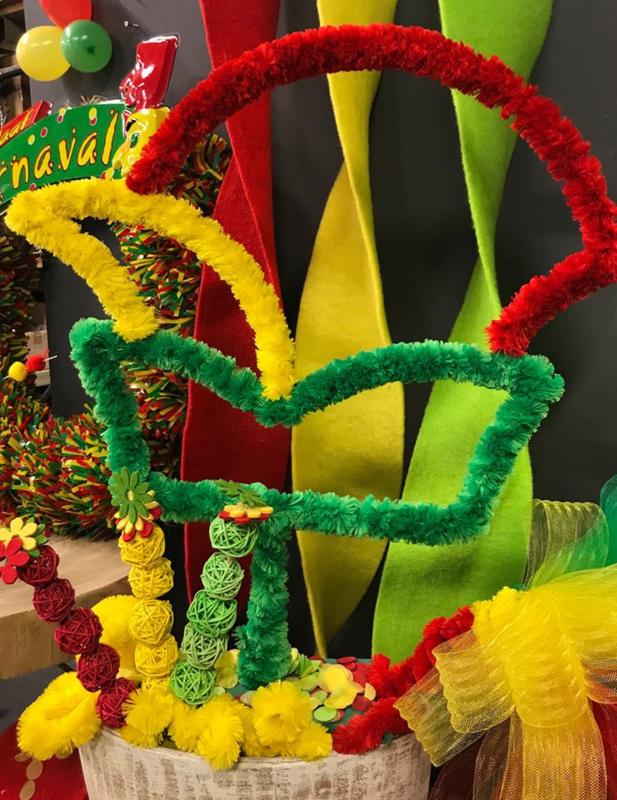 carnavals steek met voet