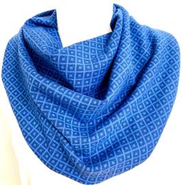 Blauw retro sjaal
