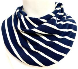 Marineblauw met wit streep